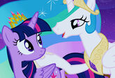 Celestia singing to Twilight promotional S4E25