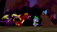 Dragons talking to Spike S2E21