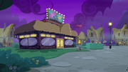 Exterior shot of Ponyville Comedy Club S8E3