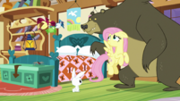 Fluttershy smiling at her animal friends S5E21