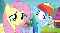 Fluttershy worried and Rainbow stunned S4E22
