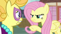 Lemon Chiffon sweating in front of Fluttershy S7E14