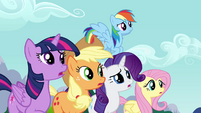 Main cast stops Pinkie from leaving S4E12