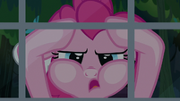 "Pinkie Pie ""hanging her head in utter despair"" S7E18"