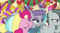 Pinkie Pie kisses Maud on the cheek MLPBGE