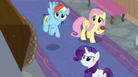 RD, Fluttershy, and Rarity hear another announcement BGES3