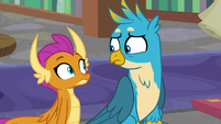 Smolder and Gallus look at each other S8E22