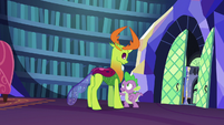 "Spike ""I gotta borrow Twilight quickly"" S7E15"
