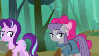 Starlight and Maud very annoyed at Pinkie S7E4