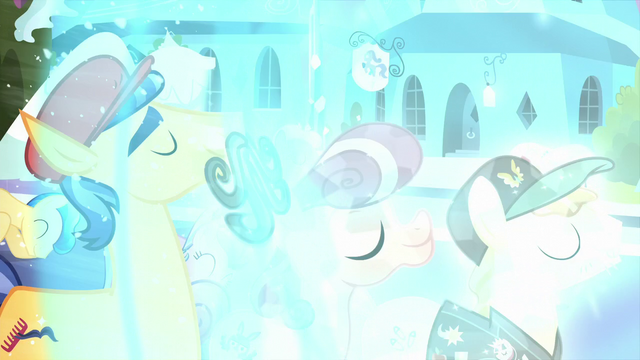 File:The Crystal Ponies being crystallized S6E2.png