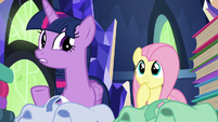 Twilight Sparkle --there are a lot of books-- S5E23