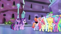 Twilight Sparkle --why was everypony hiding--- S6E16