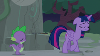 Twilight leaves Star Swirl's journal on a pedestal S7E25
