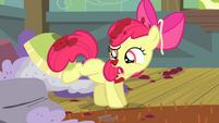 Apple Bloom shakes off spaghetti sauce S4E17