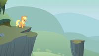 Applejack next to a cliff S1E15