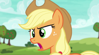 Applejack shouting --come on now!-- S6E18
