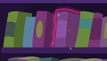 Book being levitated back into bookshelf S5E12.png