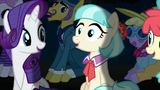 Coco Pommel in pleased surprise S5E16