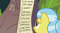Dr. Fauna looks at Fluttershy's to-do list S9E18