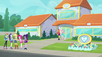 Equestria Girls outside the animal shelter EGDS26