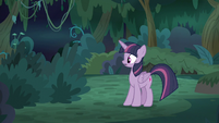 Fake Twilight hears something in the bushes S8E13