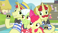 Flim and Flam next to Apple Bloom and Granny S4E20.png