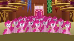 Pinkie Pie clones sitting down S3E03