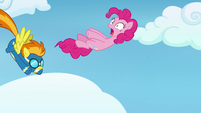 Pinkie Pie gets thrown from Spitfire's back S7E23