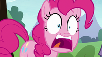 Pinkie Pie in wide-eyed shock S8E3