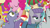 Pinkie kisses Limestone on the forehead MLPBGE