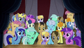 Ponies cheering for Pinkie Pie BFHHS4.png