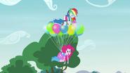 Rainbow and Pinkie levitating upward EG3