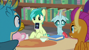 Sandbar and Ocellus tutoring their friends S8E22