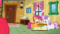 Scootaloo & Sweetie Belle searching answer S2E17