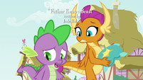 Spike thinks Smolder hates his present S8E24