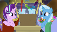 Starlight and Trixie grinning widely S8E19