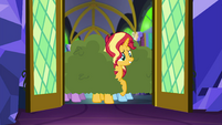Sunset sees Princess Twilight from the door EGSB
