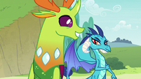Thorax taking Princess Ember's advice S7E15