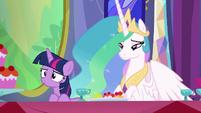 Twilight and Celestia hear Cranky's voice S6E6