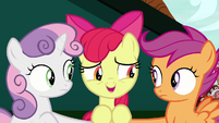 Apple Bloom agrees to play it cool S9E23