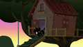 Apple Bloom sneaking out of the treehouse S3E4.png