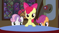 Apple Bloom standing at the table S3E4.png