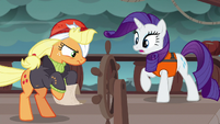 Applejack takes the map back from Rarity S6E22