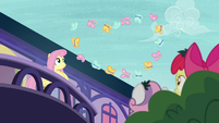 Butterflies flying in a heart formation S8E12