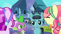 Crystal Ponies laugh with Spike and Crystal Hoof S6E16.png
