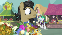 Filthy Rich sees Rarity behind him S7E19