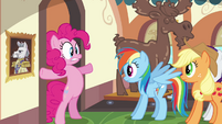 Pinkie Pie blocking entrance S2E24