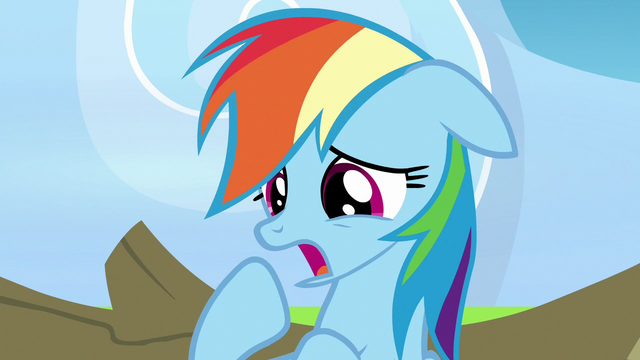 "File:Rainbow Dash ""you're right"" S7E7.png"