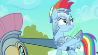 Rainbow Dash showing these ponies S3E2