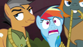 Rainbow scared; Quibble rolls his eyes again S6E13.png